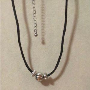 Jewelry - silver and black choker